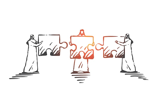Travail d'équipe, coopération, illustration de concept de coworking
