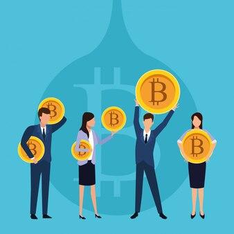 Travail d'équipe de crypto-monnaie
