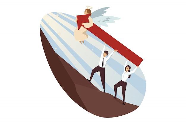 Travail d'équipe, démarrage, succès, religion, christianisme, soutien, concept d'entreprise