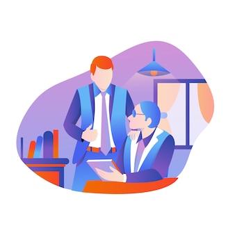 Travail d'équipe ou discussion
