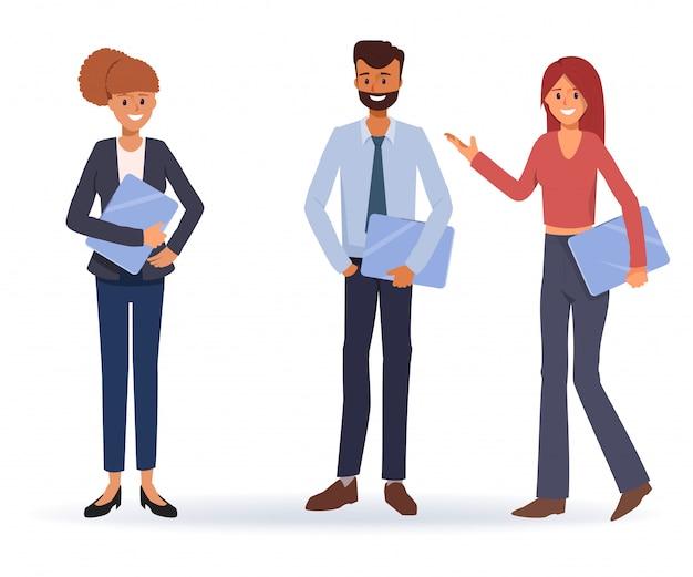 Travail d'équipe de gens d'affaires travaillant ensemble