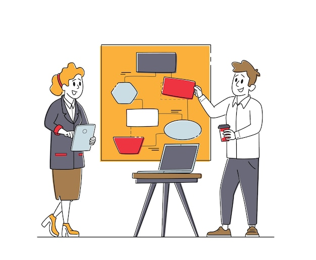 Travail d'équipe, ordre du jour dans le concept de bureau