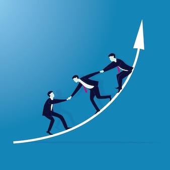 Le travail d'équipe pour atteindre le succès ensemble