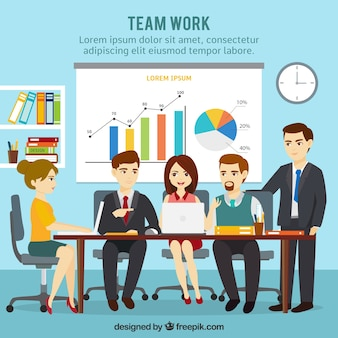 Travail d'équipe, réunion