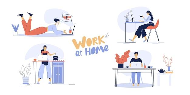 Travail indépendant à distance, éducation en ligne à domicile