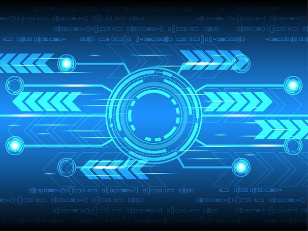 Travail numérique rapide sur un fond bleu.