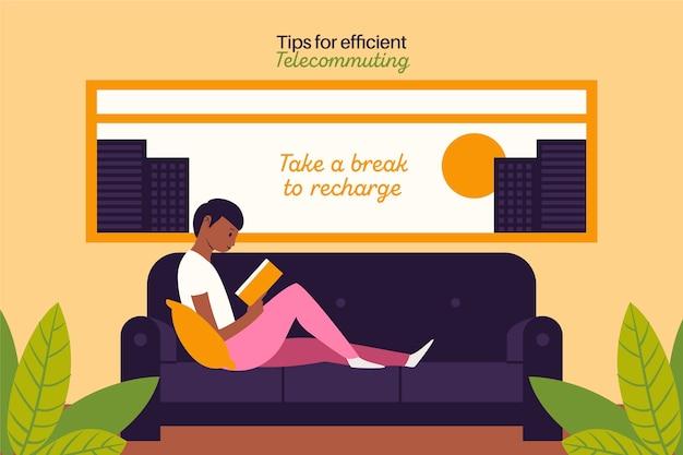 Travail à partir des pauses de recharge à distance à domicile