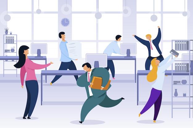 Travail rush, bureau chaos, illustration illustration