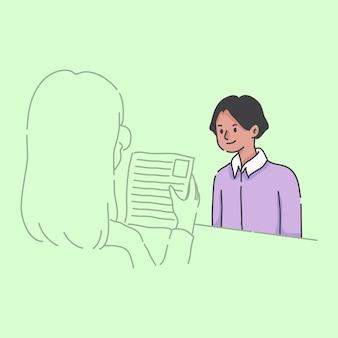 Travailler à la maison garçon à l'aide d'illustration d'ordinateur portable