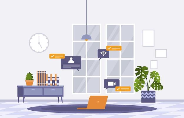 Travailler à la maison ordinateur internet business freelancer