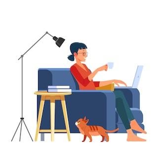 Travailler en profitant du temps à la maison.
