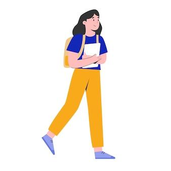 Travailleur de fille qui revient au travail illustration