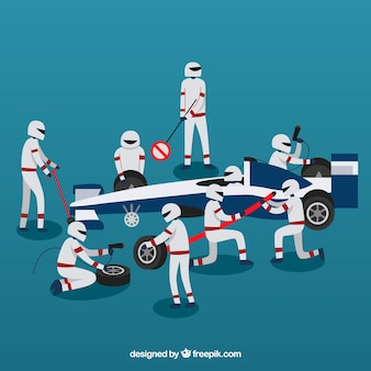 Travailleurs de la course automobile