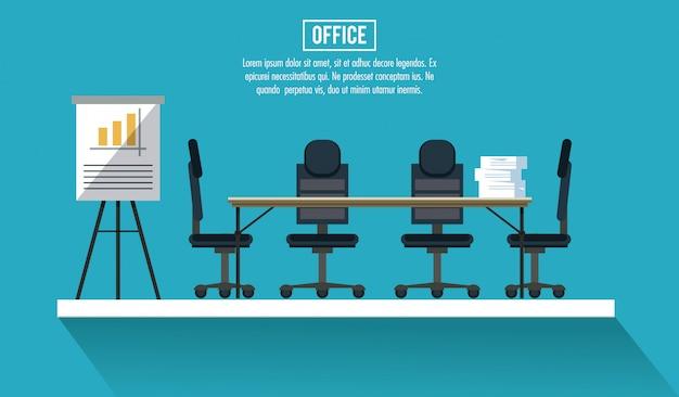 Les travailleurs de l'entreprise dans l'information de bannière de bureau