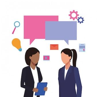 Travailleurs de l'entreprise et médias sociaux