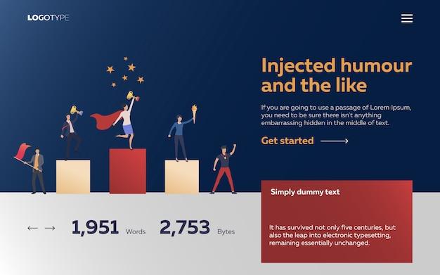 Les travailleurs gagnent des récompenses page de destination