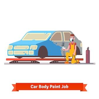 Travaux de peinture pour carrosserie