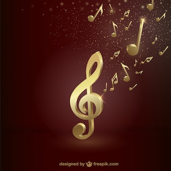Treble clef d'or