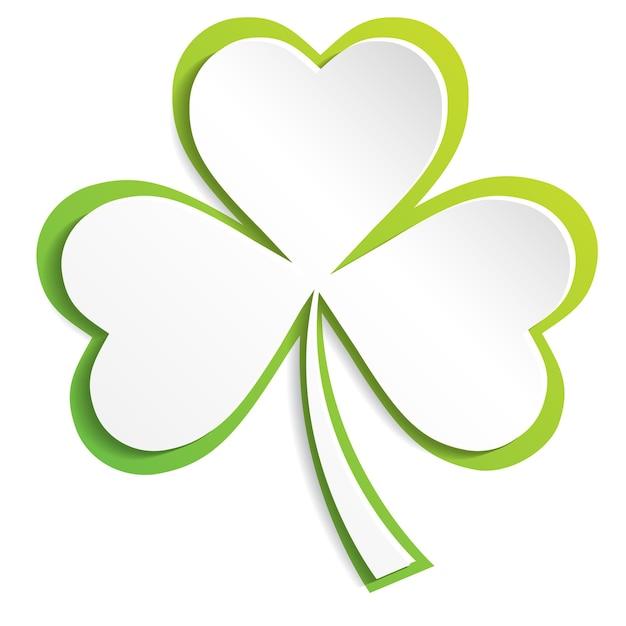 Le trèfle irlandais laisse l'arrière-plan pour les eps de la saint-patrick