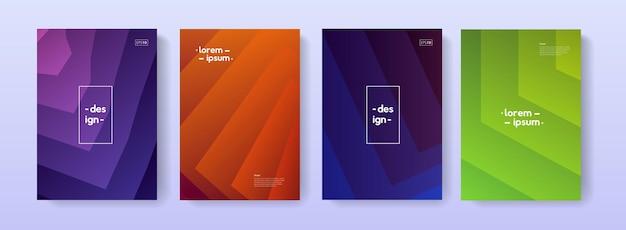 Trendy couvre la conception géométrique. ensemble de modèles simples en couches pour brochure, bannière, carte, affiche, écorcheur.