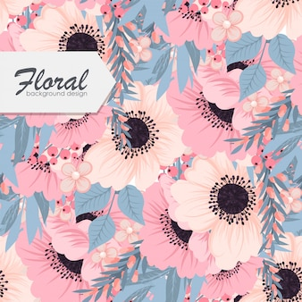 Trendy seamless floral