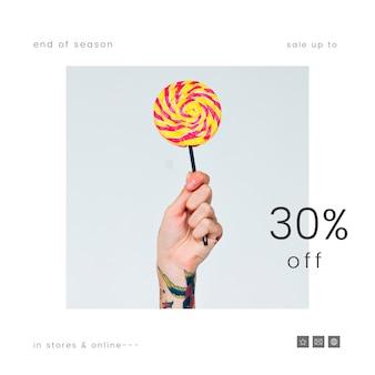 Trente pour cent de réduction