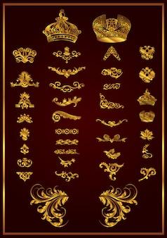 Une très belle collection rétro à ajouter à votre design couleur or
