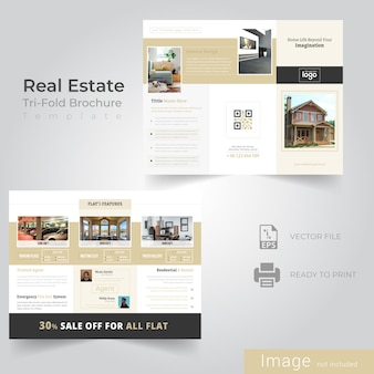 Tri fold brochure design for real estate company
