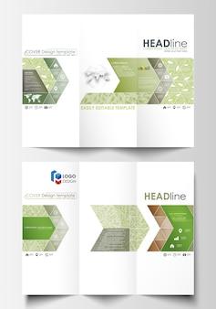 Tri-fold modèles de business brochure des deux côtés.