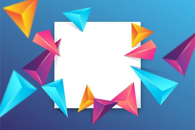 Triangle 3d fond coloré
