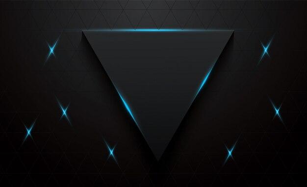 Triangle 3d vecteur fond noir