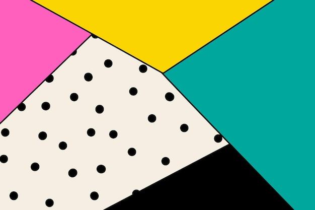 Triangle abstrait coloré moderne à pois papier peint