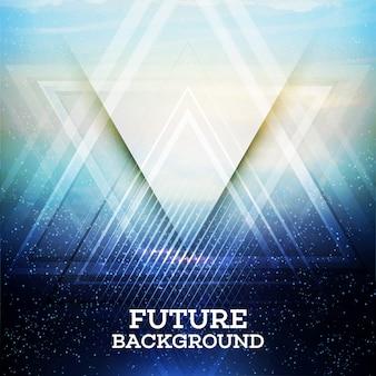 Triangle abstrait futur vecteur