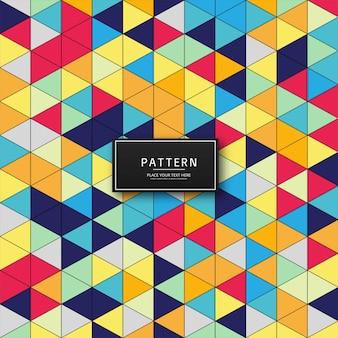 Triangle coloré abstrait motif fond illustration
