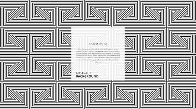 Triangle décoratif abstrait forme carrée rayures motif