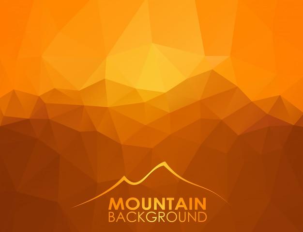 Triangle fond géométrique avec des montagnes