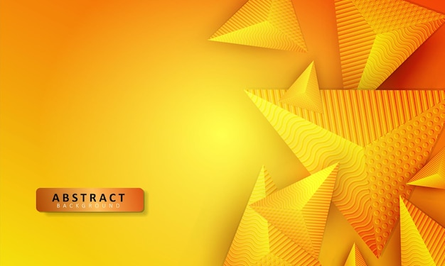 Triangle fond jaune