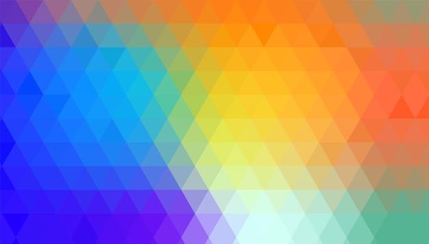 Triangle géométrique coloré abstrait formes de fond