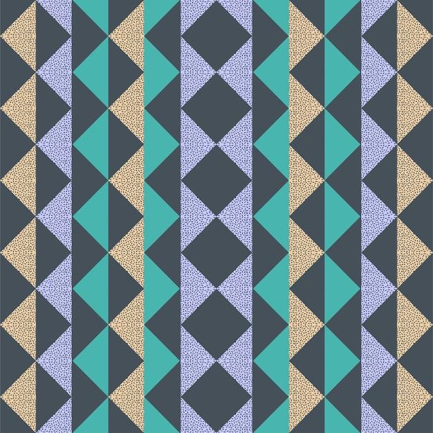 Triangle de memphis triangle sans couture à la mode