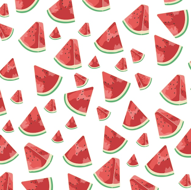 Triangle de motif de fond pastèque