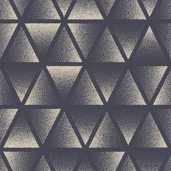 Triangle pointillé seamless pattern géométrique vector abstract background dessiné à la main carrelage esthétique texture pointillée