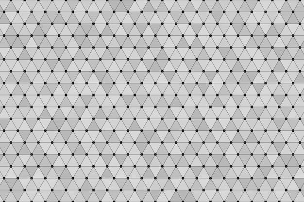 Triangle polygonal fond gris avec point noir