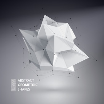 Triangles abstraits espace low poly.
