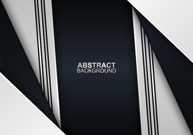 Triangles blancs et noirs abstraits avec fond de lignes vector illustration