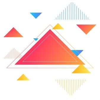 Triangles brillants, fond abstrait pour la brochure, la conception de prospectus ou de présentations, illustration vectorielle.