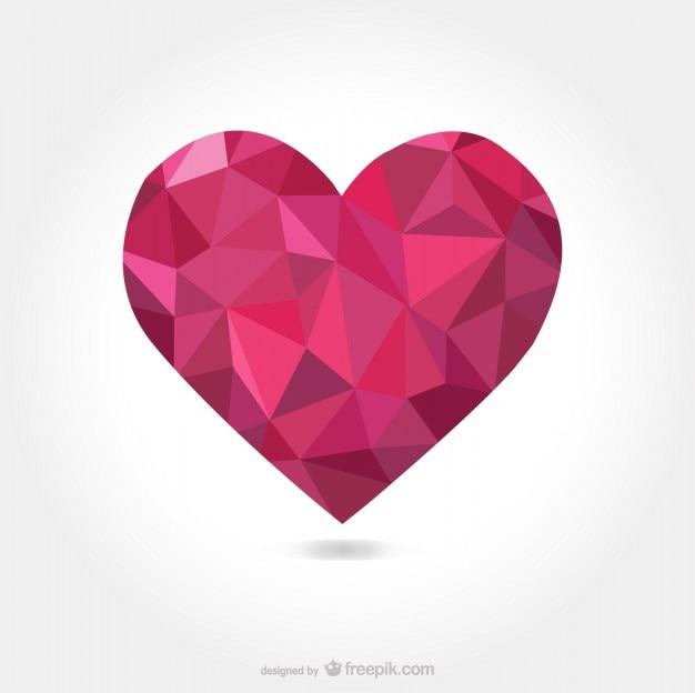 Triangulaire en forme de coeur de vecteur