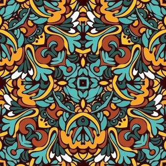 Tribal ethnique bohème mode abstrait indien, fond ondulé.