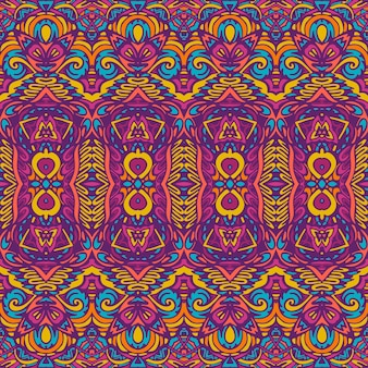 Tribal festif coloré vecteur abstrait géométrique ethnique modèle sans couture ornemental