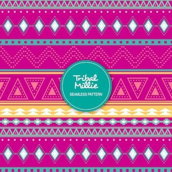 Tribal millie seamless pattern