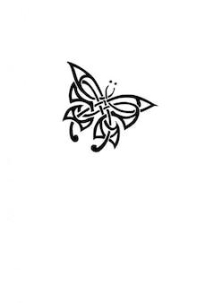Tribal tatouage de papillon